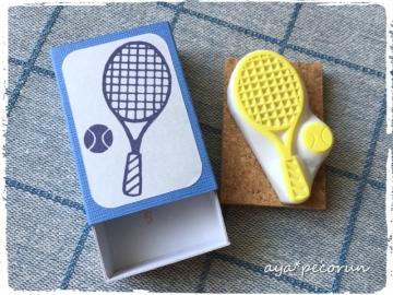 テニスラケット&ボールのはんこ 印面