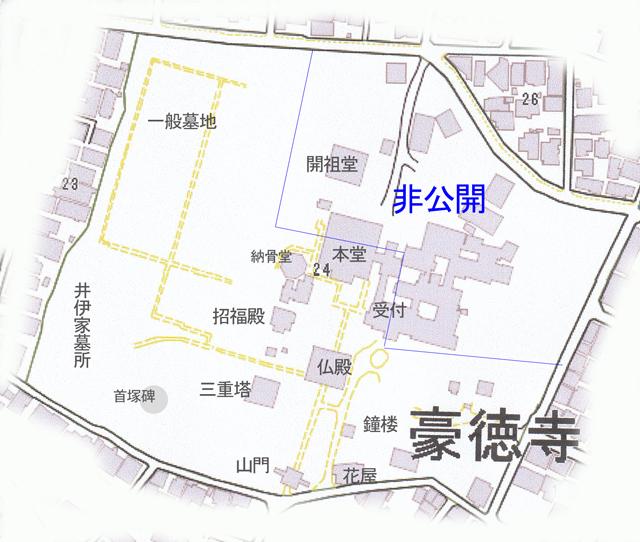 豪徳寺境内詳細配置図