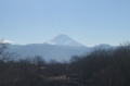 逆光の冬富士