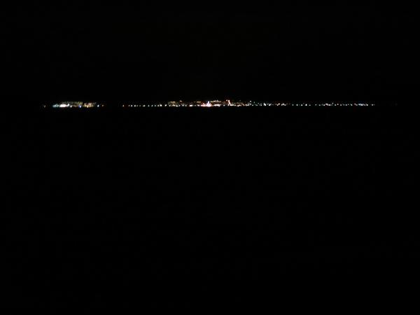 支笏湖 温泉街 対岸 夜景