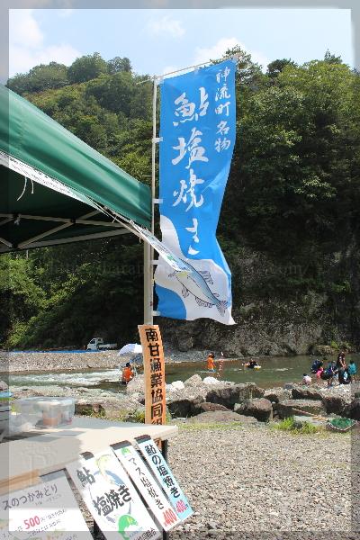 神流の涼 川遊び 川 万場 20150801