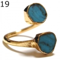 Turquoise Wrap Ring Gold 19 + (3)1