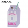 IPHONE 6 LILAC MILK SILICONE CASE111