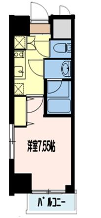 エルスタンザ町屋01号室間取り