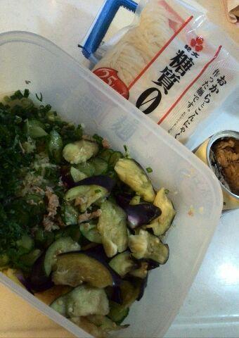 サバ缶冷汁&糖質0g麺