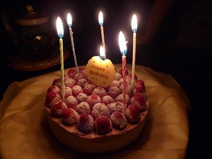 ラズベリーのケーキ