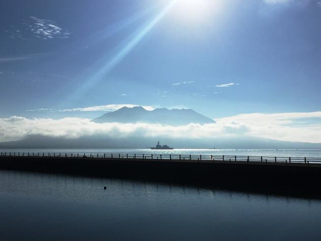 今朝の桜島1