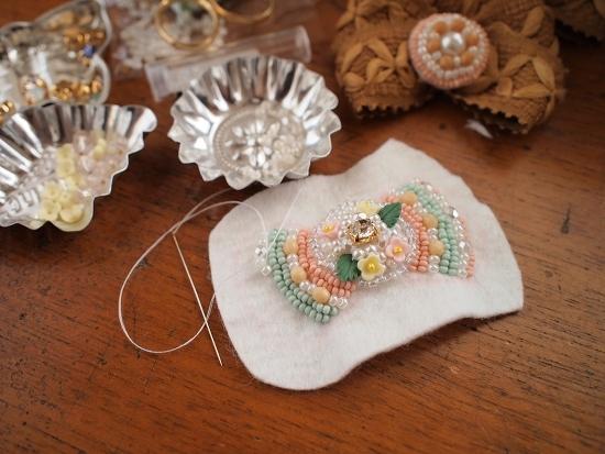 $blossom ビーズ刺繍/ハンドメイドアクセサリー