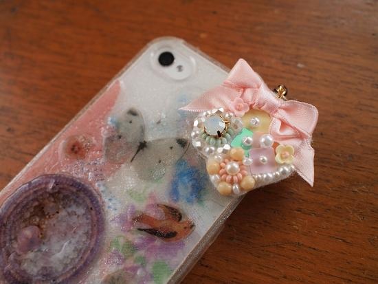 blossom ビーズ刺繍/ハンドメイドヘアアクセ/コラージュ