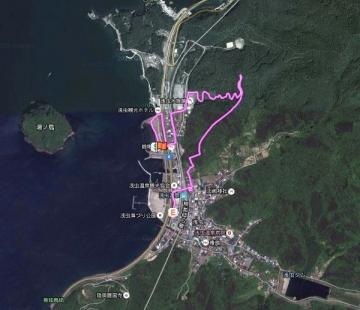 浅虫森林浴砂浜 GPS_600