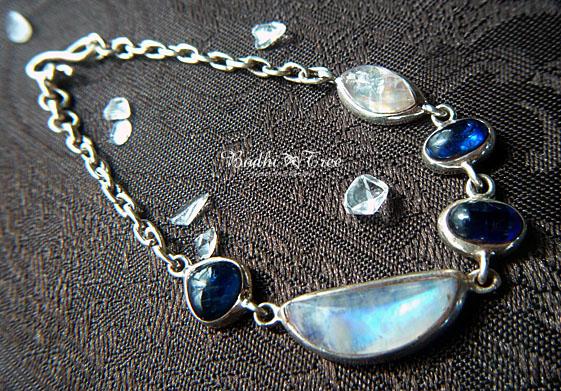 ムーンストーン&カイヤナイト Silver925 ブレスレット.jpg