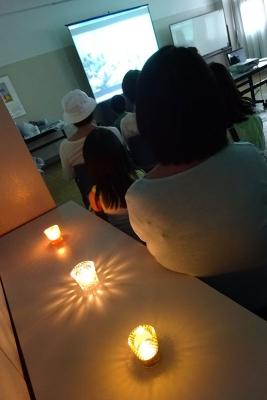 4_上映会場キャンドル