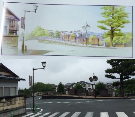 松江城付近