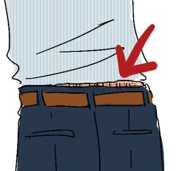 ズボンからパンツ