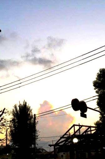 夕焼け夏雲