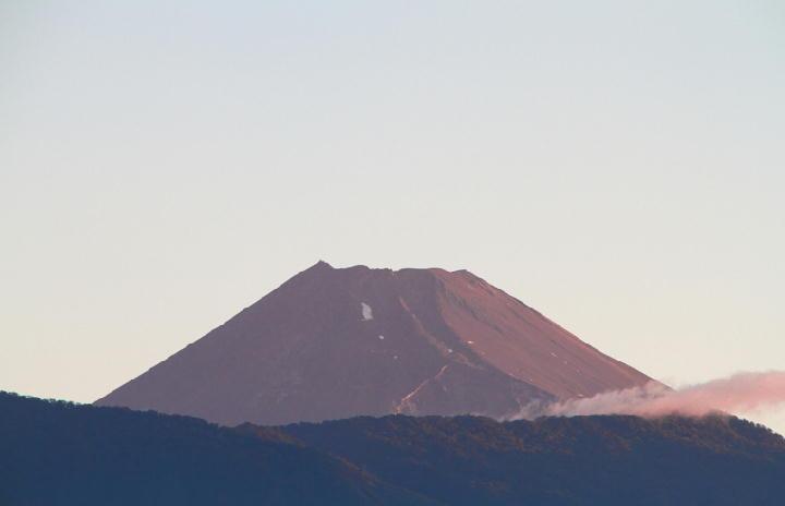 22日 4-54 今朝の富士山