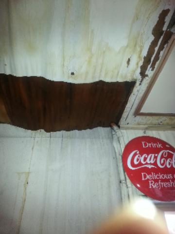 天井 修理前