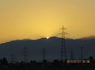 日の出の瞬間