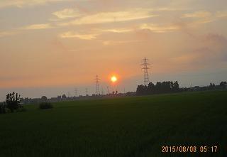 立秋の日の出
