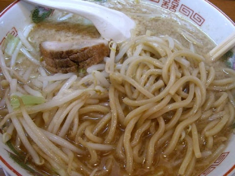のろし長岡店・H26・9 ラーメン肉1枚 麺