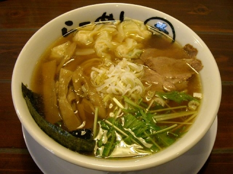 らーめん幸・H25・10 あご醤油とりワンタン麺
