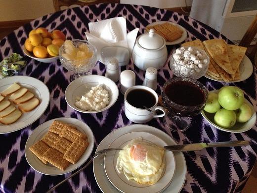ヒバカラホテルの朝ごはん