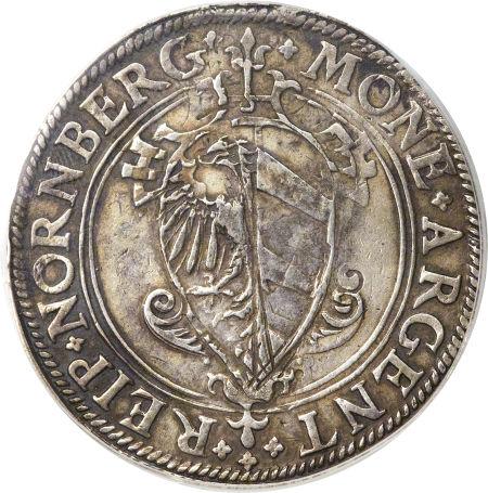 ニュルンベルク ライヒスターラー(帝国ターラー)銀貨  1581年XF45(PCGS)2