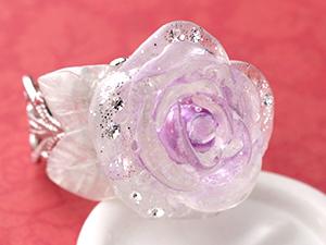 グラスクレイ:バラのリング