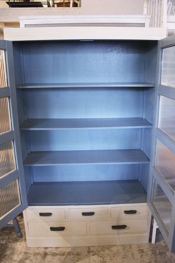 食器棚 飾り棚 リメイク モールガラス 店舗什器
