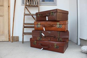 英国製 トランク ビンテージ 革 中古 旅行鞄