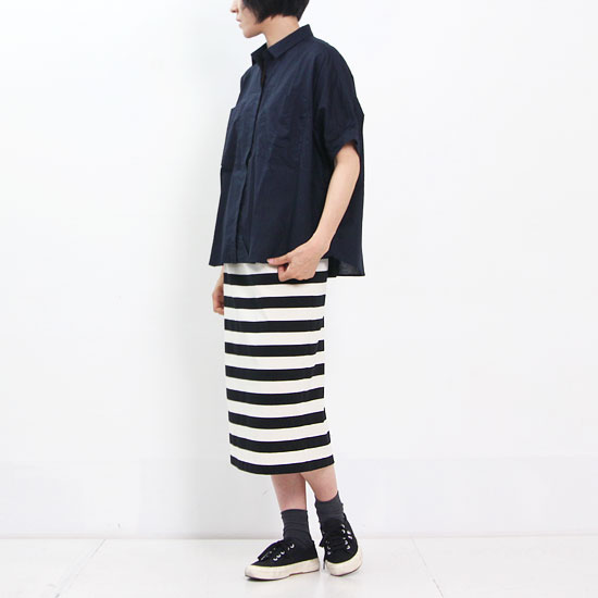 MidiUmi (ミディウミ) ワイドドルマンポケットシャツ