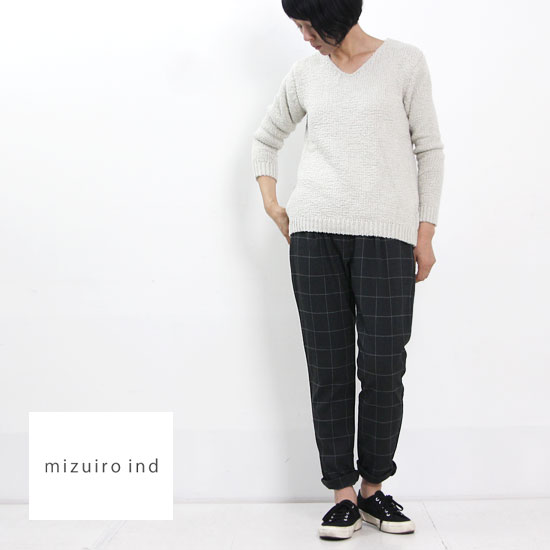 mizuiro ind (ミズイロインド) ウエストタックパンツ