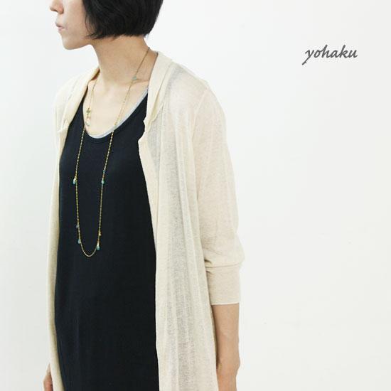 yohaku(ヨハク) long tank top