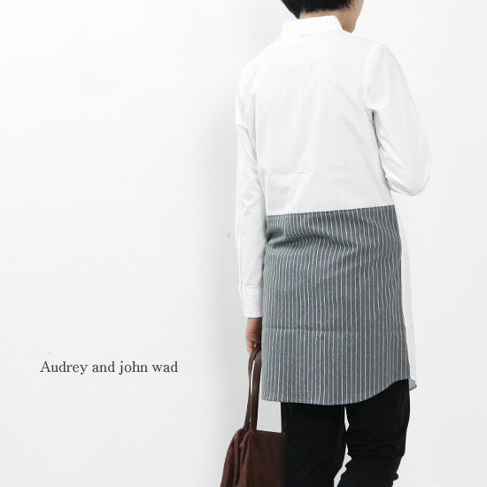 Audrey and John Wad (オードリーアンドジョンワッド) 切替シャツワンピース