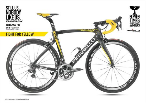 Pinarello2016-DOGMA F8-868 RHINO YELLOW DOT
