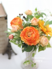 art Ranunculus arrange orange_201506