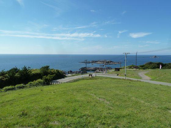 戸賀湾展望公園からの眺め