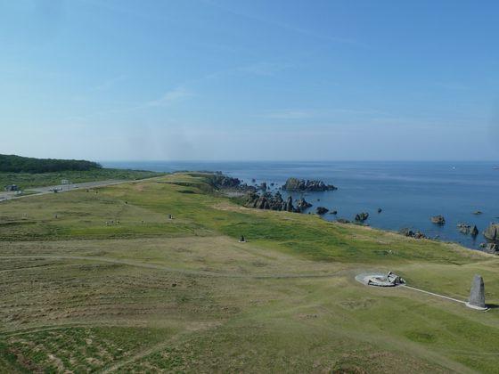 入道崎灯台からの景色