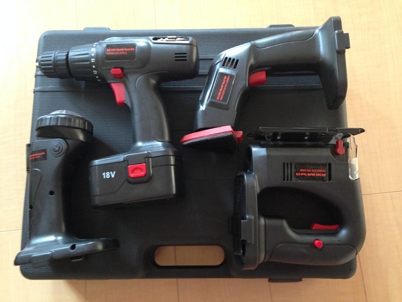 4種類の電動工具