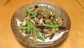茄子とスナップエンドウのひき肉味噌炒め 20150603