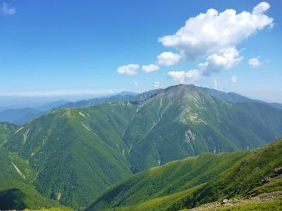 晴天の聖岳!