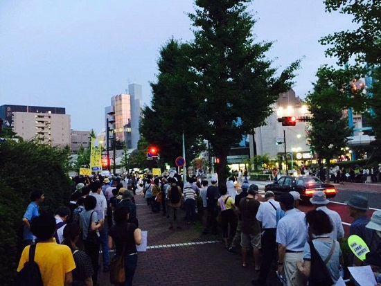 8月1日のNHK大包囲デモ