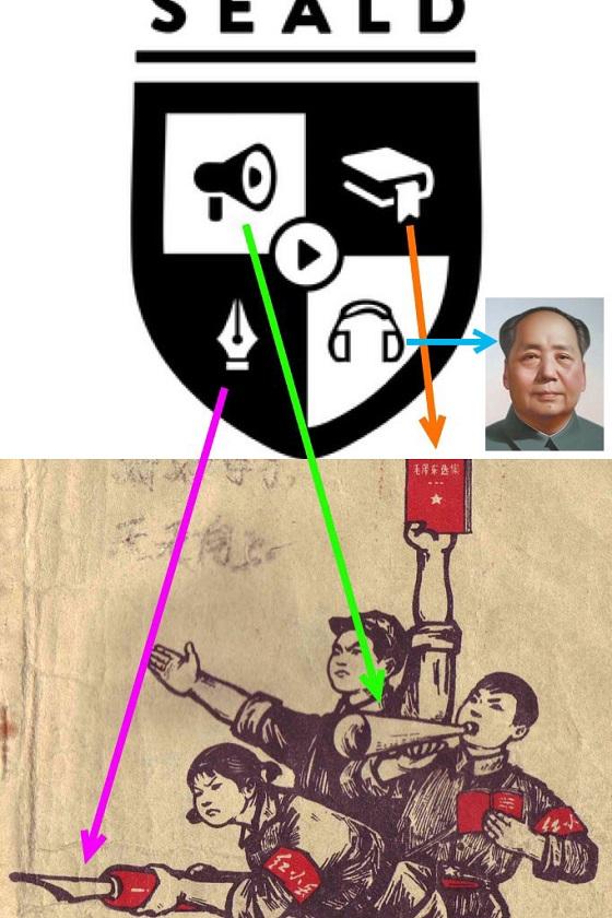 SEALDsのシンボルマークの由来を紐解いてみましょう・・・ 毛沢東、共産主義