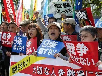 「戦争法案反対」抗議の声 安保法制、官邸前や銀座で