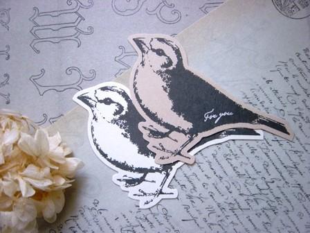 鳥イラストで検索 どうやら100均のメッセージカード