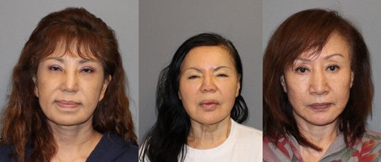写真:左から、Joo Yoon Kyung, Hye Kyong Newman, Soon Shin Chong.ノーウォーク警察提供