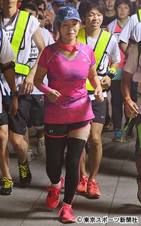 大久保佳代子 27時間マラソン「ワープ疑惑」を否定 下半身ボロボロです」と火消しに躍起