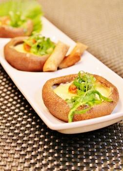 レンジで簡単 椎茸の大葉味噌チーズ (252x350)