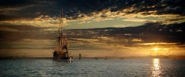 『ターナー、光に愛を求めて』 代表作「解体されるために最後の停泊地に曳かれてゆく戦艦テメレール号」はこうした風景から生み出された。