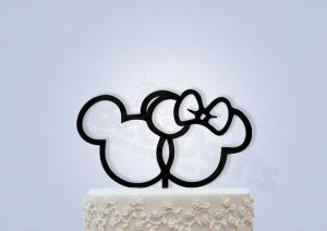 ディズニーミッキーミニーシルエットケーキトッパー2